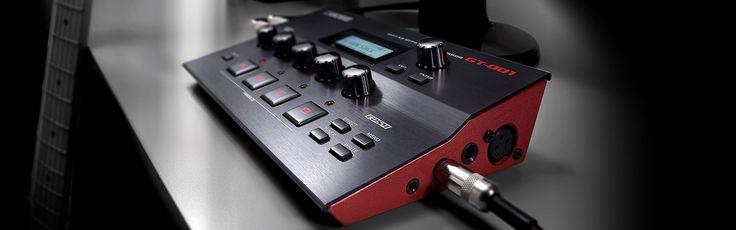 Boss GT-001: Gitar Efek Prosesor  Flagship GT Power pada Desktop Anda.  GT-001 dinobatkan sebagai amp dan efek terbaik pada flagship GT-100 Versi 2.0 dengan desktop prosesor yang stylish untuk home studio atau mobile rig anda. Ukurannya yang kecil tidak akan memakan banyak tempat, dan interface yang intuisif memudahkan anda untuk men-dial up nada-nada kelas dunia untuk rekaman atapun latihan anda.