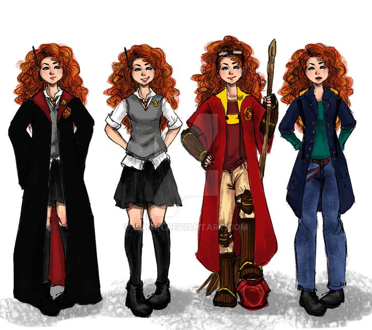 The Big Four: Merida outfits by ZLynn on DeviantArt