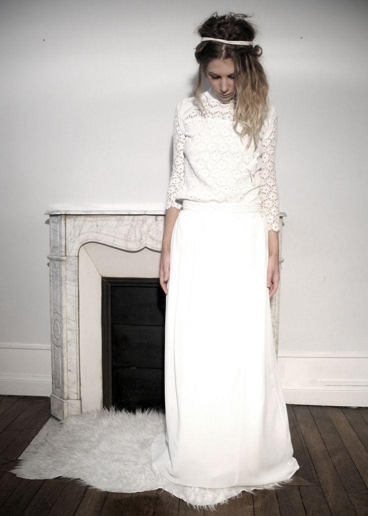 ... Robe de mariée Dentelle  Pinterest  Mariage, Dentelle de robea et