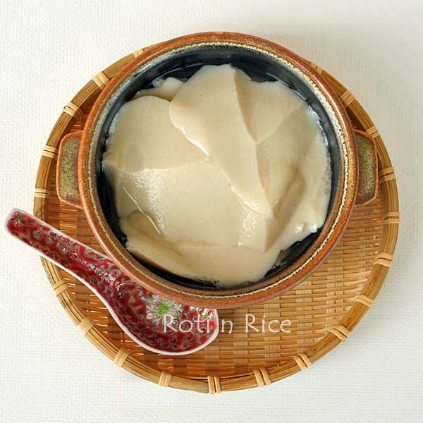 Tau Foo Fah (Soy Bean Pudding) made with agar-agar powder | Food to gladden the heart at RotiNRice.com