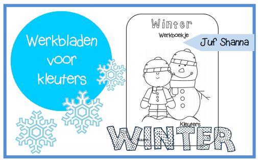Juf Shanna: Thema winter - Werkboekje voor kleuters