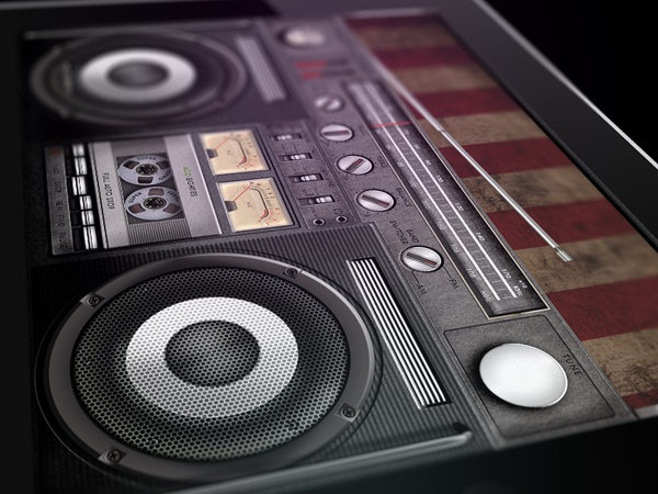 Legendary retro audio devices GUI by Dmitry Mushchinskiy, via Behance