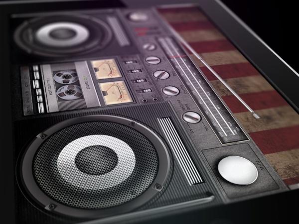 Legendary retro audio devices GUI by Dmitry Mushchinskiy, via Behance