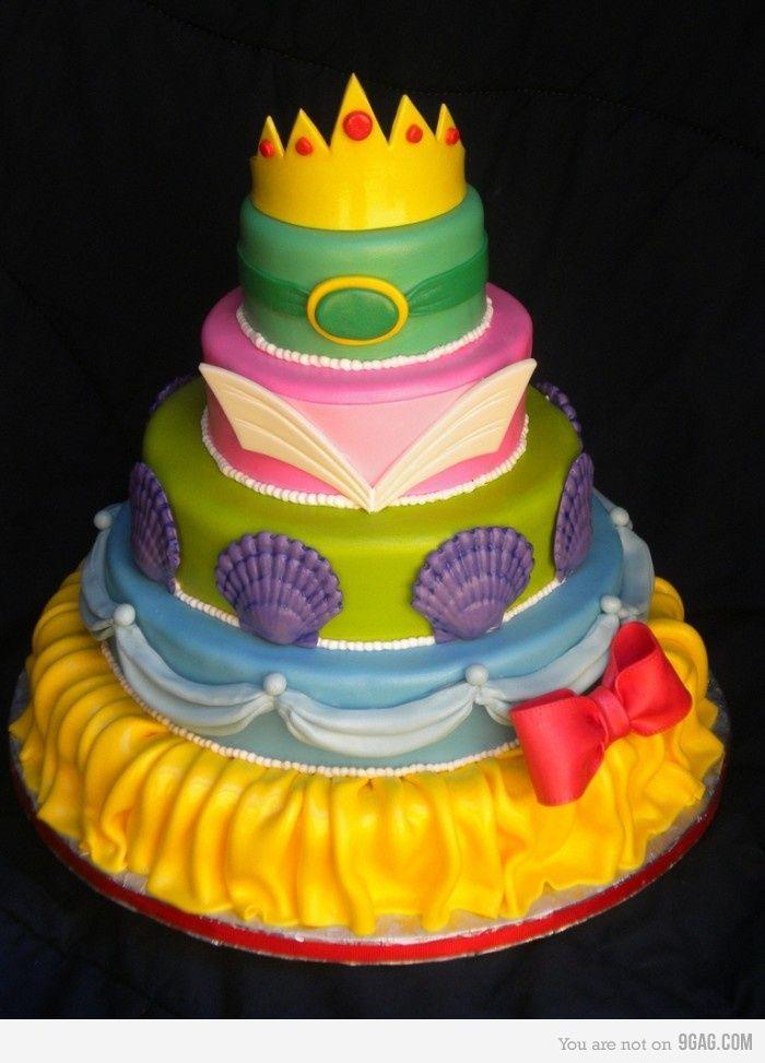 Disney Princess Cake. So cute!