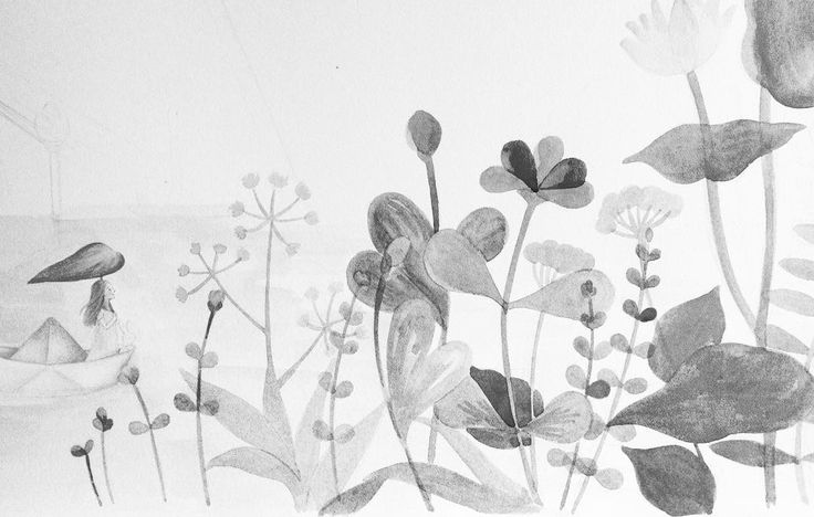 @ana_sucre Her #journey begins... So as #mine 그녀의 여행이 시작되었다...나의 여행 또한. #lapetitefille #storybook #picturebook #watercolor #colorpencil #illustration #workinprogress #garden #rainy day #그림책 #이야기책 #일러스트레이션 #작업중 #수채화 #색연필 #그림 #비오는날 #정원 #여행