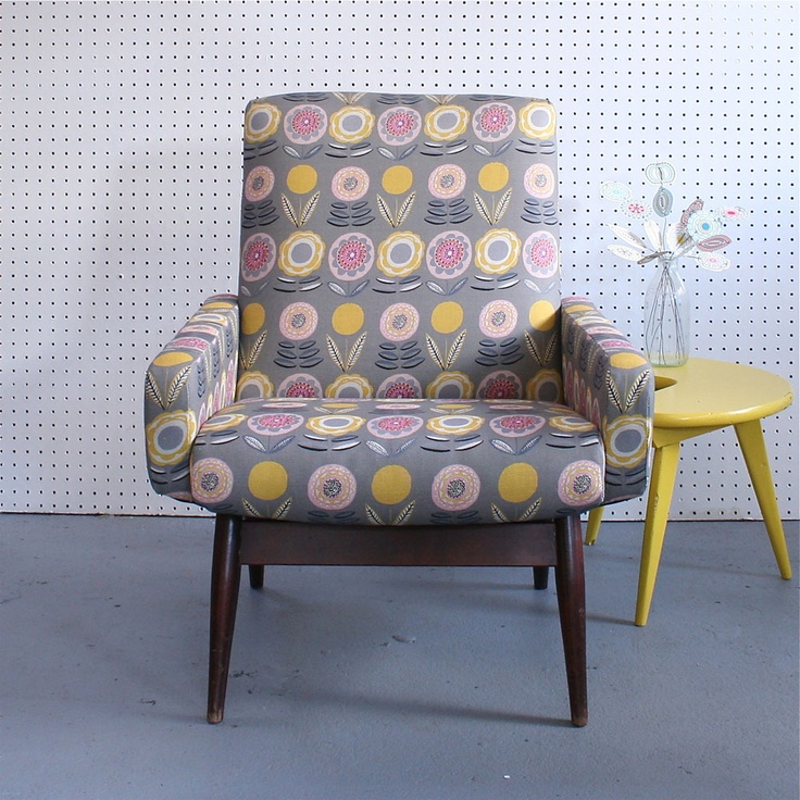 Knoll Home Design Shop: Vintage Parker Knoll Chair In Lollipops