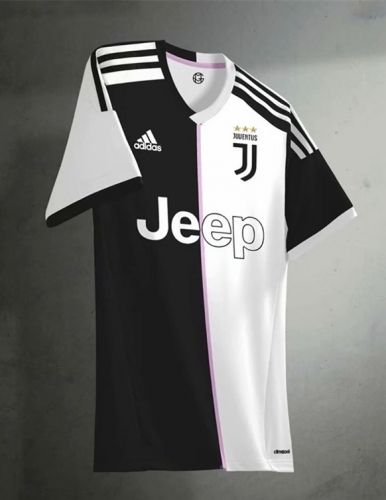 0cf45b9ad 2019-20 Juventus Home Black&White Thailand Soccer Jersey AAA ...