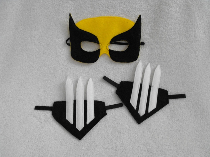 Wolverine Mask and Cuffs on Etsy - I think I could make this.