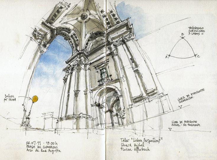 """Luis Ruiz - Lisboa, Praça do Comércio, Arco da Rua Augusta (""""Lisbon Perspectives"""" w/ Gérard Michel & Florian Afflerbach)"""