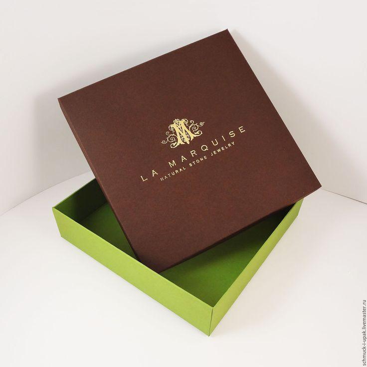Коробки на заказ малым тиражом! Коробка с тиснением логотипа фольгой :)