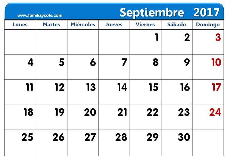 Calendario 2017 para imprimir mes de septiembre 2017