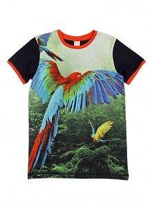 WILD WILD shirt met papegaaien in de Jungle