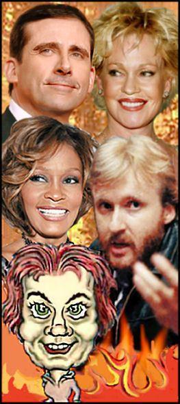 astrology portrait of Leo Suns, Steve Carel, Melanie Griffith, Whitney Houston, James Cameron Słońce w Lwie
