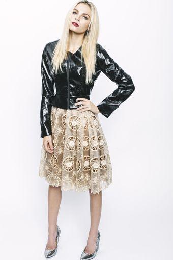 Kluk CGDT | Onyx Faux Leather Shell Jacket | & | Amber Silk Organza Lace Party Skirt | Parkhurst | Johannesburg