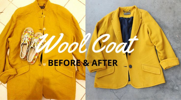 A quick look at my process of taking a n oversized wool coat and making a fun jacket.