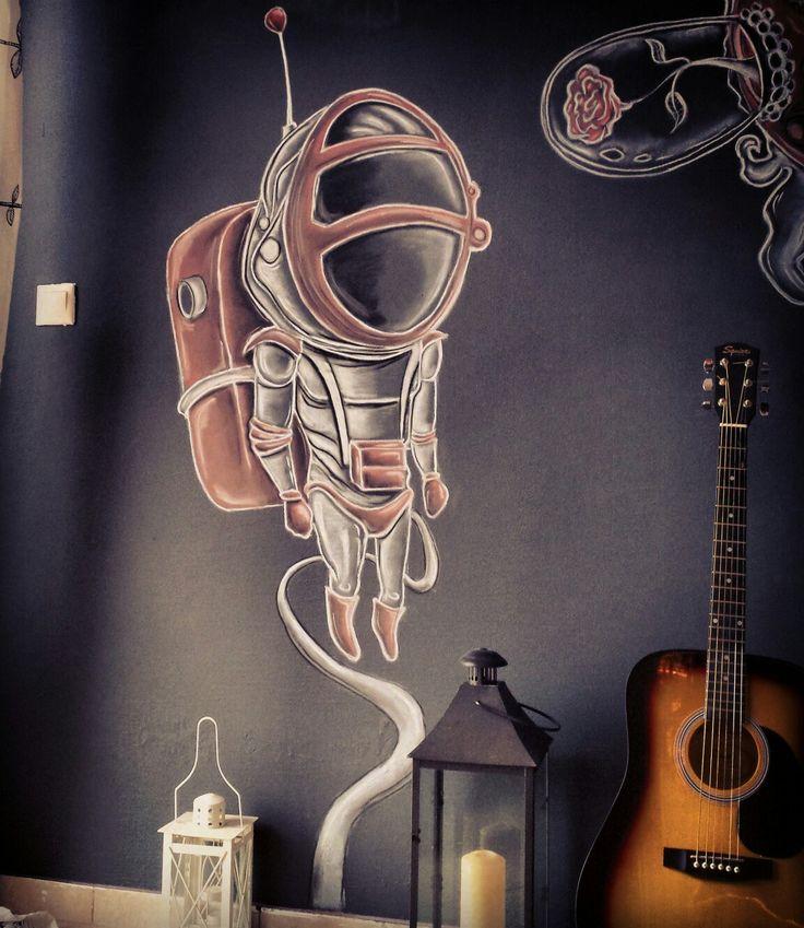 Astronaut#sketch #wallmural #graffiti#bardone