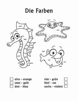 Worksheet German Intermediate For Children Lessons 23 best vocabulary images on pinterest german die farben color by number worksheets and coloring pages are a great tool for teaching german