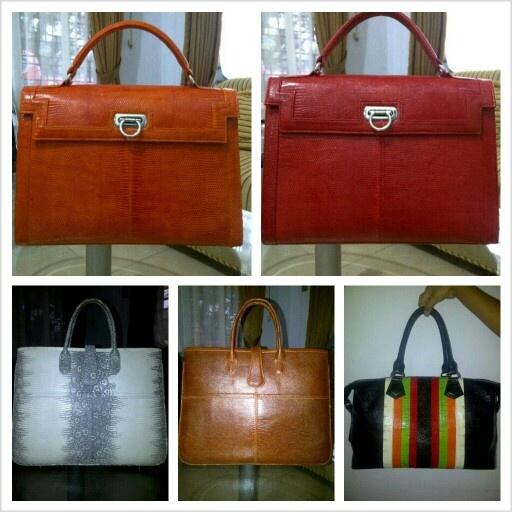 Handmade lizard skin bag.  For more orders, email : yuns2506@yahoo.com or whatsapp : +62 81317203406