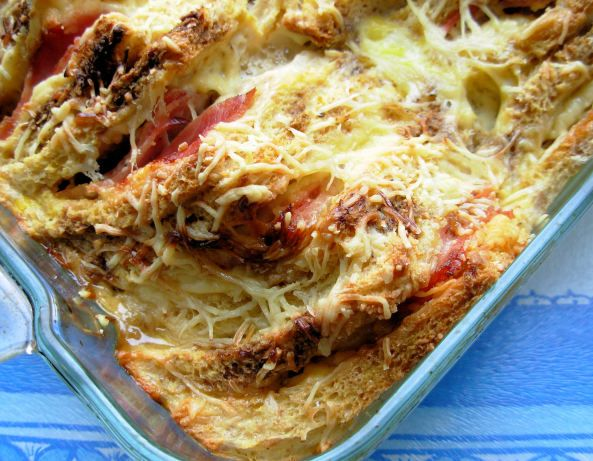 Nigella Lawson's Croque Monsieur Bake - The Dijon and Worcester really make this recipe. Perfect comfort food, I did find that you need to have a dish more on the small side so everything is squashed in that way the milk and egg cover the bread. http://www.food.com/recipe/croque-monsieur-bake-nigella-lawson-359570