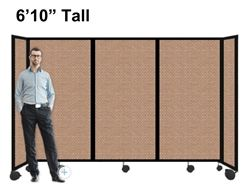 """6'10"""" Ft Tall Portable Room Divider Partition on Wheels"""