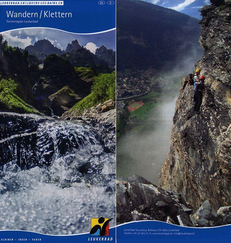 https://flic.kr/p/Hhx29T | Wandern Klettern Ferienregion Leukerbad, Albinen, Inden, Varen; 2015_1, map, Wallis Valais, Switzerland
