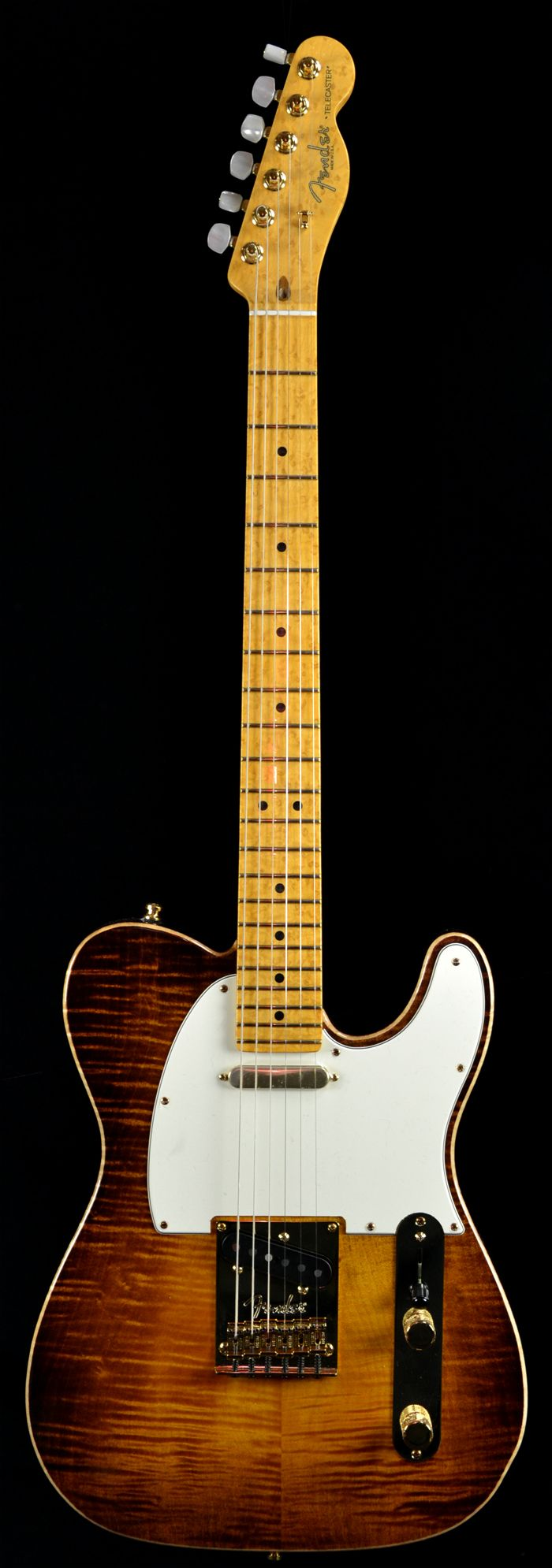 Wild West Guitars : Fender Select Telecaster Chambered Ash Body Violin Burst Gold Hardware