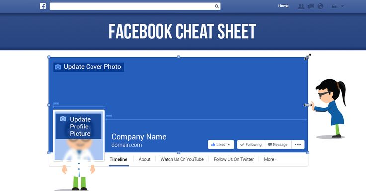 Use this #cheatsheet and you'll never have to guess the #facebook page dimensions again!