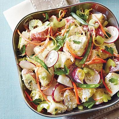 Veggie Potato Salad   This low-fat potato salad is rich with creamy goodness but easy on the fat and calories.   SouthernLiving.com