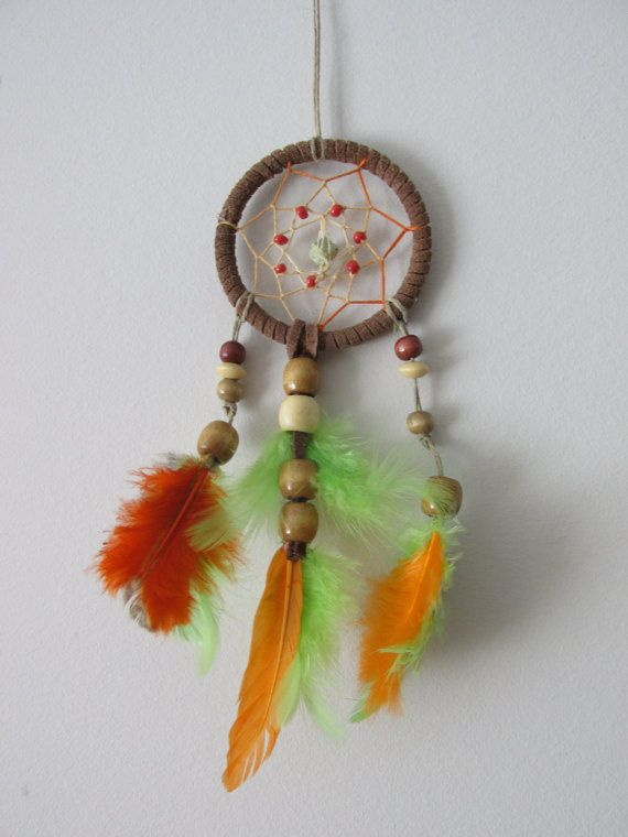 Orange and green dreamcatcher authentic dream by FineBubbles