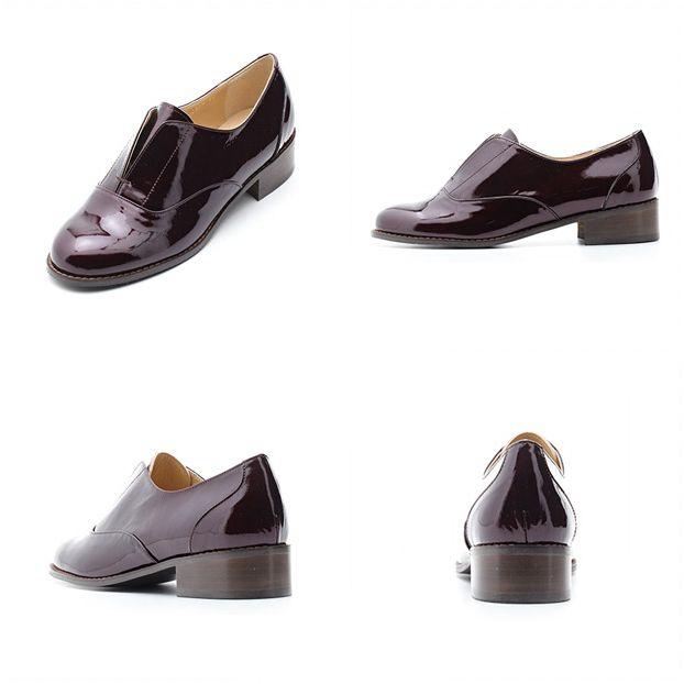 #NAMUHANA #designer #handmade #shoes #namuhana #flat #oxford #laceless #patent #wine #디자이너 #슈즈 #나무하나 #수제화 #플랫 #옥스포드 #레이스리스 #페이턴트 #와인 #N2210WI