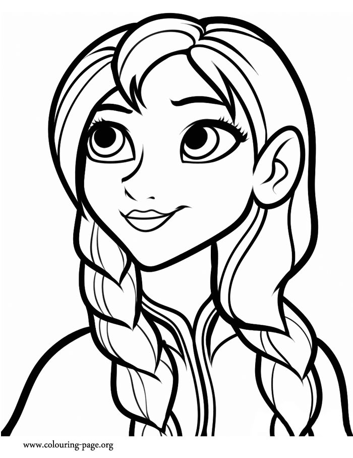 meet anna the youngest daughter of a royal family have fun coloring this beautiful - Fun Colouring Sheets