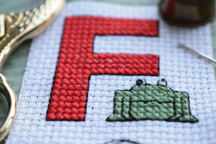Free F is for Frog cross stitch pattern   Craftsy
