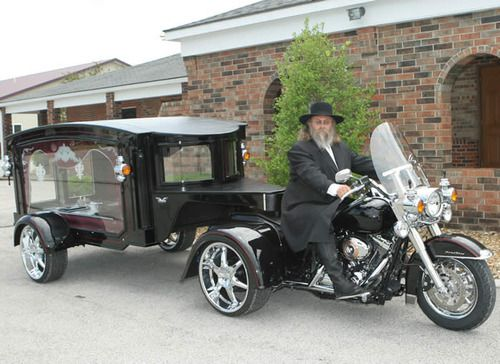 Harley Davidson Trike Hearse, What A Way To Go!
