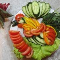 """Овощной салат-нарезка """"Петух"""""""