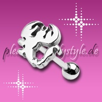 Zungen-Piercing *Steel-Icon* mit Skorpion-Motiv
