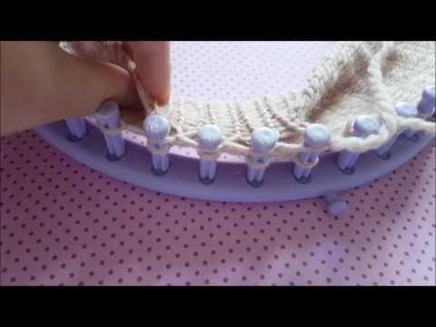 Tutoriel: Snood au tricotin en Point 8 - YouTube