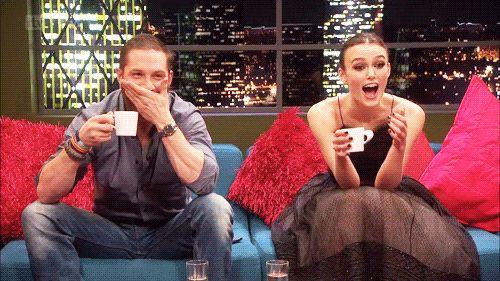 [ Tom loves his mug of tea ]