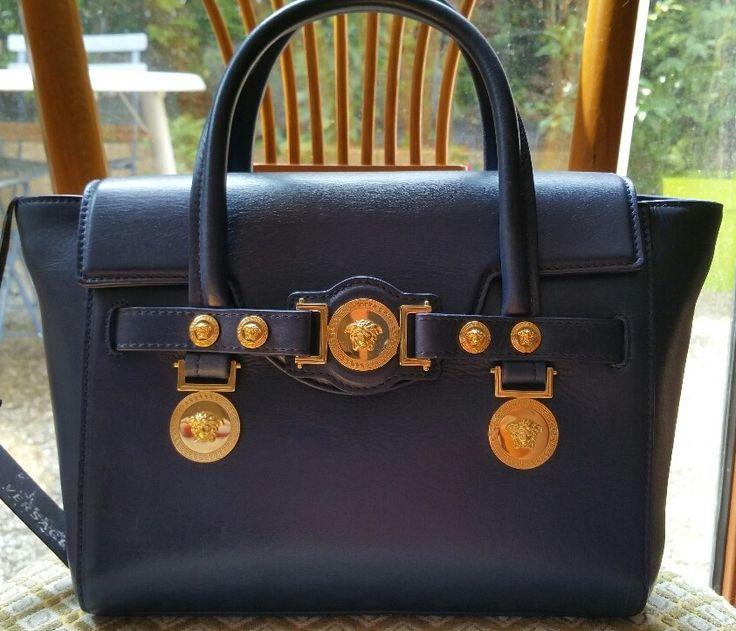 Sac à main cuir bleu Versace ludo : Coups de Coeur : Achetez des articles de luxe neufs certifiés