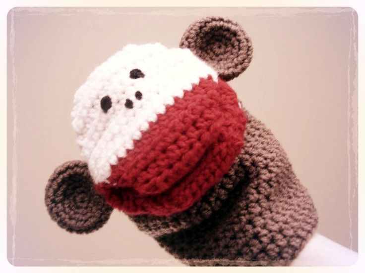 Puppet Gloves Knitting Pattern : Monkey Puppet Crochet Pattern Toys Pinterest