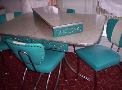 vintage metal kitchen tables and chairs   what they were destroying!