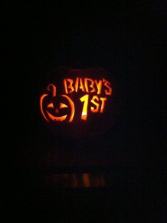 Pumpkin carving- baby's first halloween