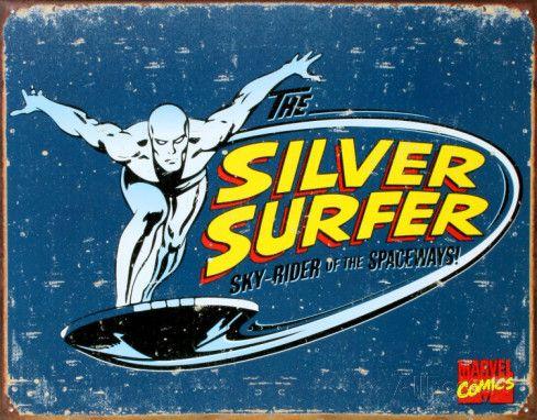 Le Surfer d'Argent - Comics & BD Plaque en métal sur AllPosters.fr