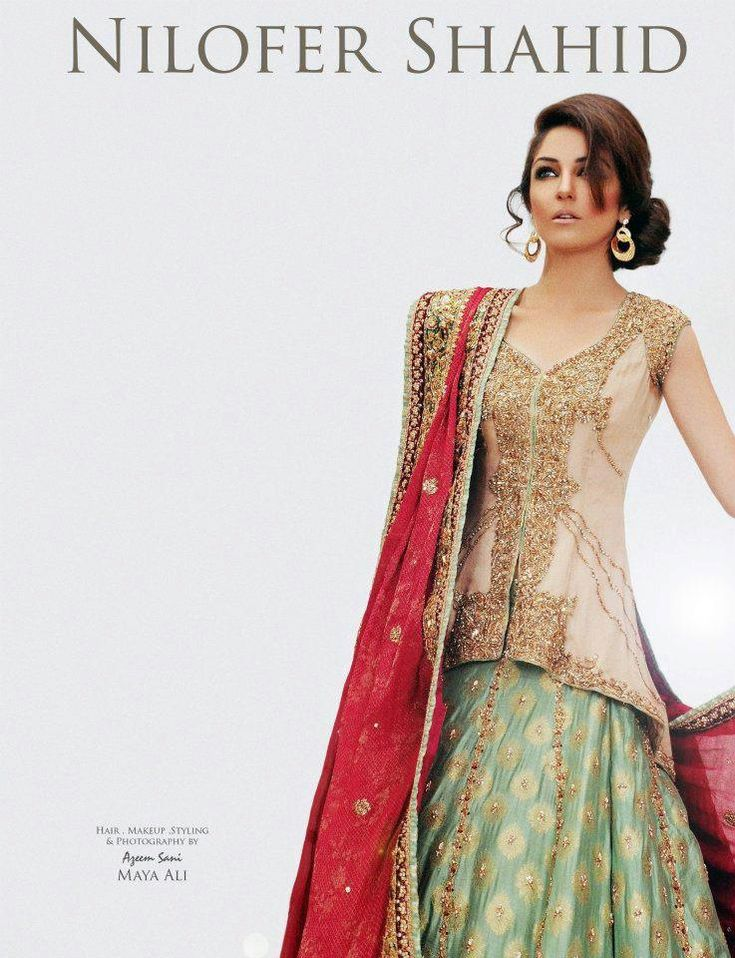 Pakistani Bridal Classics Dress 2013 By Nilofer Shahid   FashionStyleCry: Bridal Dresses, Women Wear, Makeup