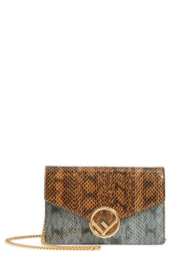 62b08c8d688 Fendi Genuine Snakeskin Wallet on a Chain in 2019