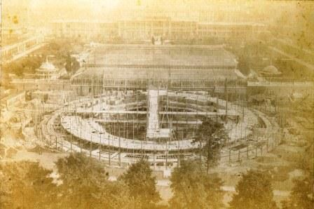 Construction of the Royal Albert Hall started in 1867 and finished in 1871. London