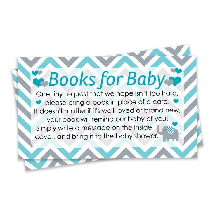 Teal Blue and Gray Elephant Books for Baby Cards (Set of 20)-Distinctivs