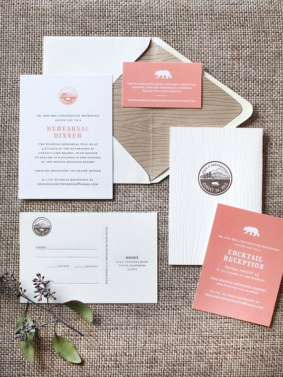 Modern, pink and gold mountain wedding | Photo by Grover Photographers | Read mo…
