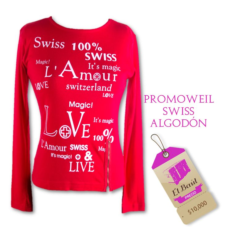 Promoweil Swiss, los precios soñados siempre en elbaulcolombia  $10,000  http://elbaul.co/Productos/945/Promoweil-Swiss-algod%C3%B3n-rojo-