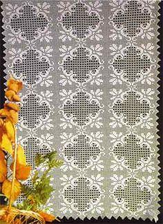 """Схема вязания узора для покрывала, пледа или скатерти """"Цветочные ромбы"""""""