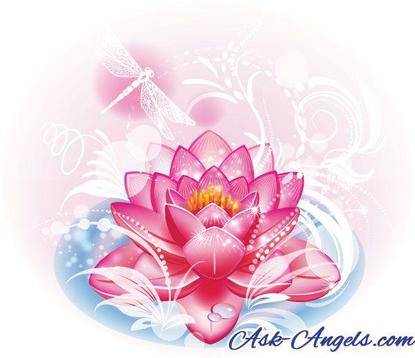 Angels Help Free Angel Emergency Call Meditation Lotus Flower Logo Design Flower Logo Design Flower Vector Art